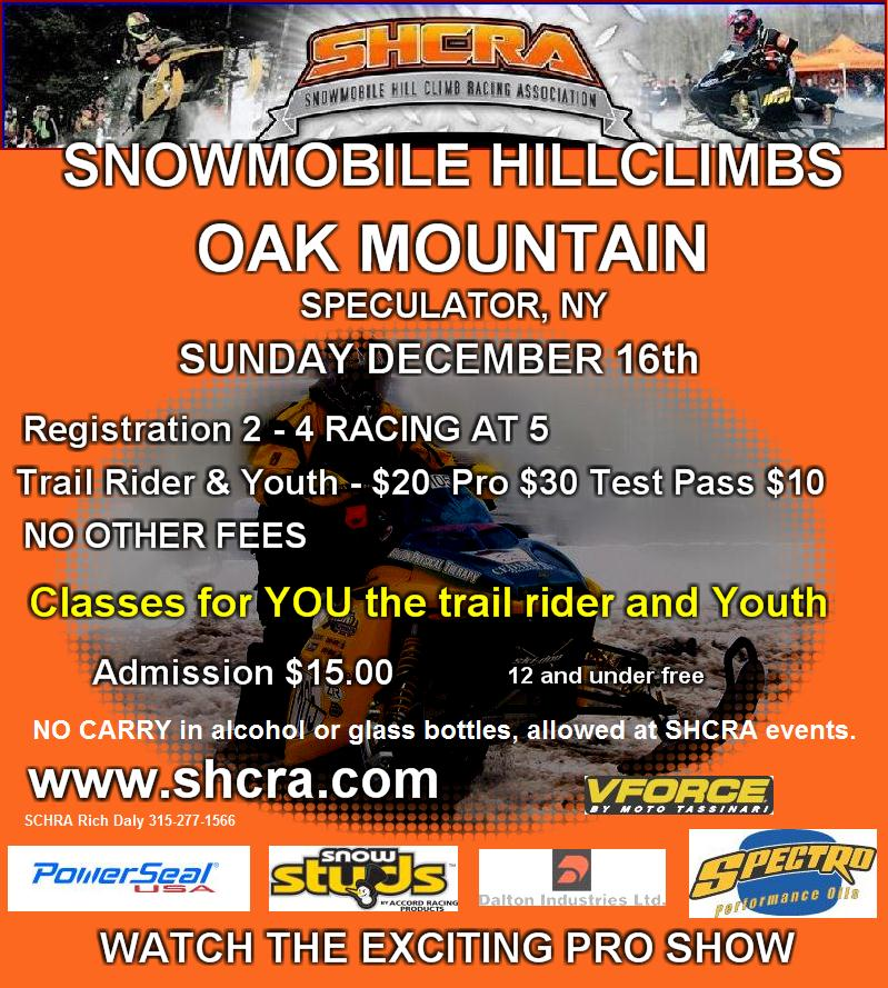 Oak Mountain Snowmobile Hillclimbs
