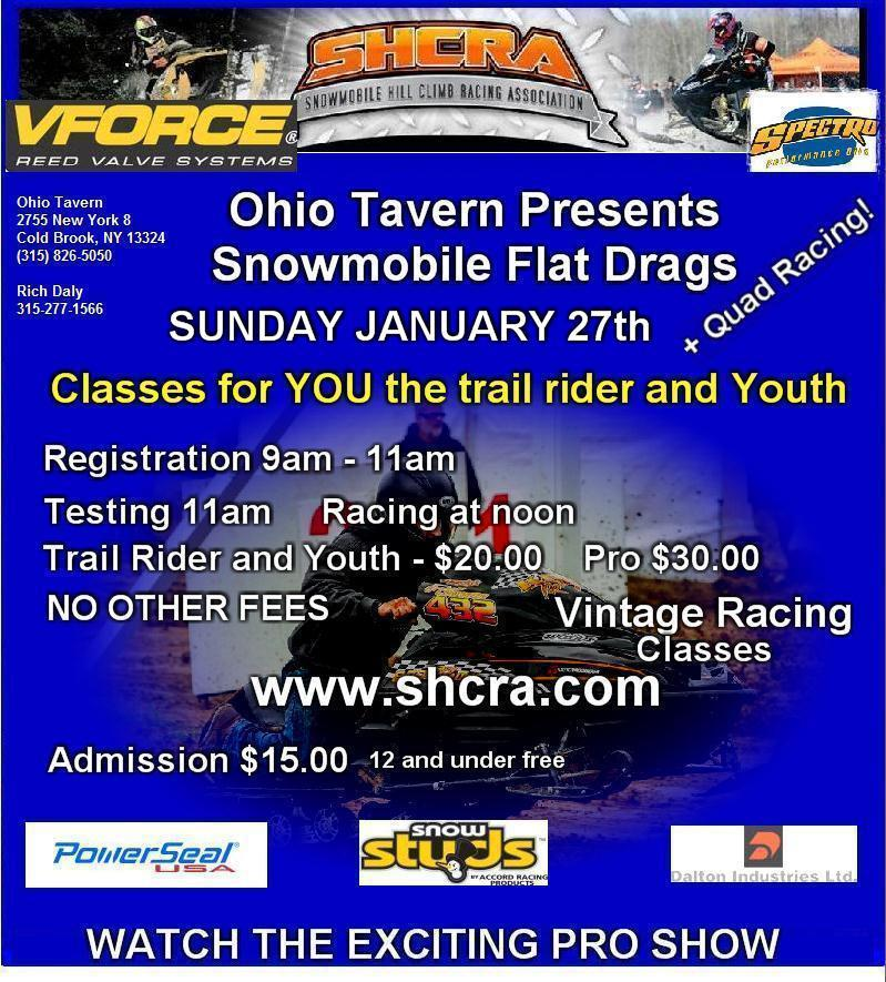 Ohio Tavern Snowmobile Flat Drags
