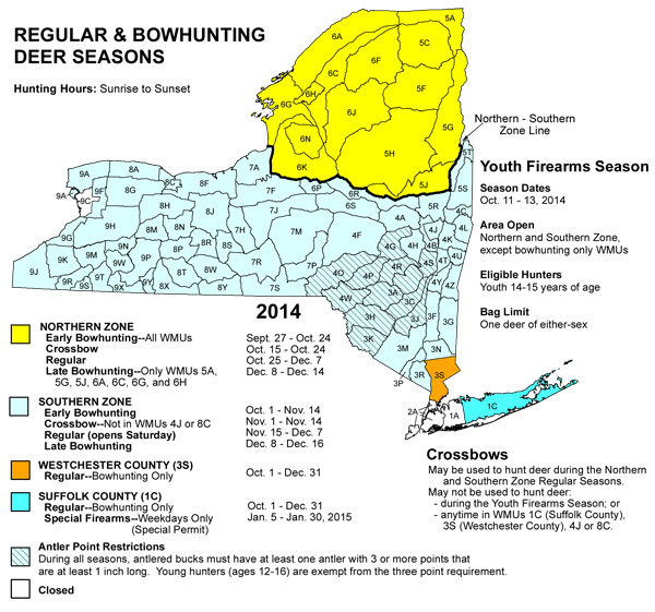 31 excellent New York Hunting Zone Map – bnhspine.com